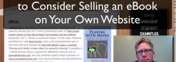 Selling an eBook on Your Own Website: Pros & Cons